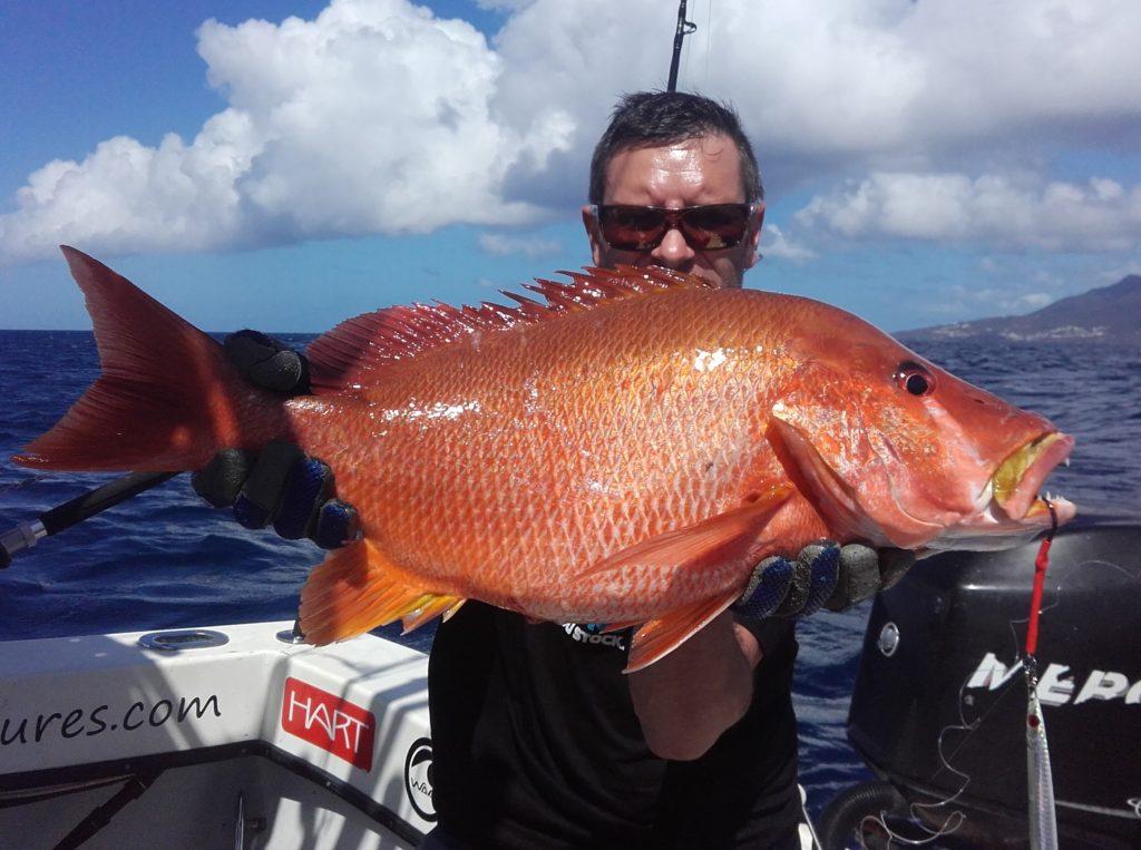 Pêche du Pagre dents de chien en Guadeloupe