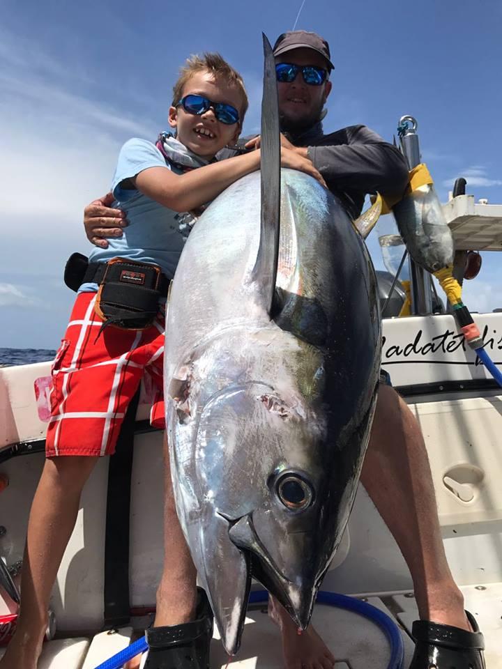 Pêche du Thon jaune en Guadeloupe