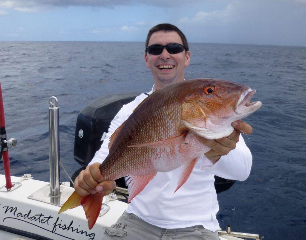 Pêche du Pagre rose en Guadeloupe