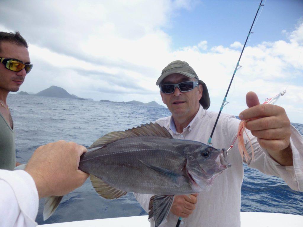 Pêche du Pagre vivaneau noir en Guadeloupe